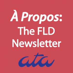 À Propos: The FLD Newsletter logo